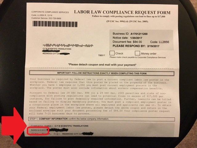Scam Alert! Corporate Compliance Services – CFB Scientific ...