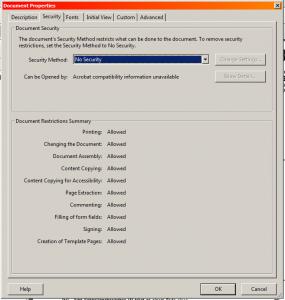 Adobe Acrobat File Security