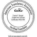 ATA certified translator