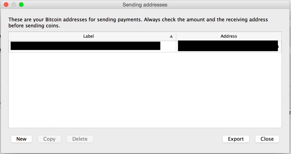 Send to addresses