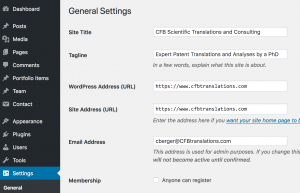 https settings in WordPress