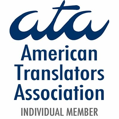 Professional American Translators Association member translator ATA-certified