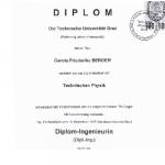 Diplom-Ingenieurin der Technischen Physik