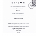 Masters degree in engineering physics