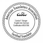 ATA-zertifiziert Englisch nach Deutsch