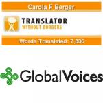 Ehrenamtliche Übersetzerin für Translators without Borders und Global Voices (Stichting Global Voices)