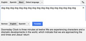 Google Translate sagt den Weltuntergang vorher