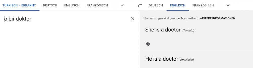 Google Translate Türkisch auf Englisch