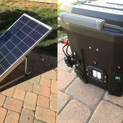 Sonnenenergie, Photovoltaik, Solargenerator im Eigenbau